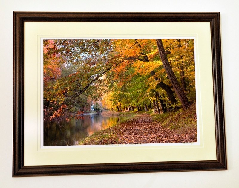 "Walnut 1 1/4"" wide  16x20 wood frame"