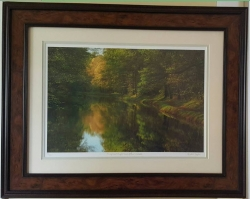 Framed work showing willow green bottom mat