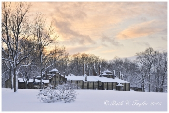 Winter Sunset at Mercer Tileworks - Doylestown, PA