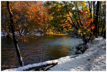 Autumn Morning Snow along Neshaminy Creek - Warwick, PA