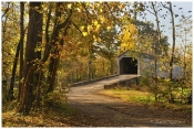 Autumn Light at Schofield Ford Covered Bridge - Newtown, PA