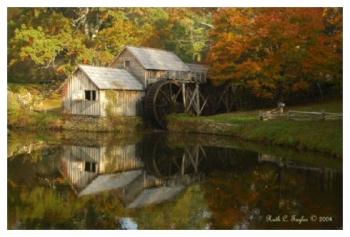 Reflections of Fall - Mabry Mill, VA