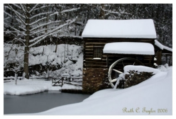 Winter at Cuttalossa Farm Mill - New Hope, PA
