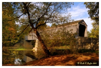 Early Autumn Along Schofield Ford Covered Bridge - Newtown, PA