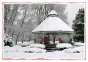 Winter Gazebo - Holiday Card