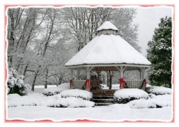 Winter Gazebo - Holiday Card