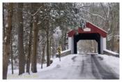 Winter Along Cabin Run Covered Bridge - Plumstead, PA
