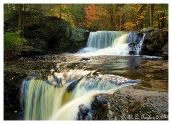 Autumn at Factory Falls - George Childs State Park, PA