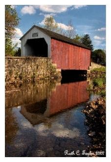 Reflections of Erwinna Covered Bridge - Erwinna, PA