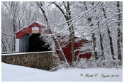 Winter Along Pine Valley Covered Bridge - New Britain, PA