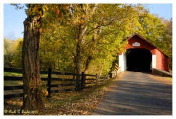 Early Autumn Along Knechts Covered Bridge - Springfield, PA