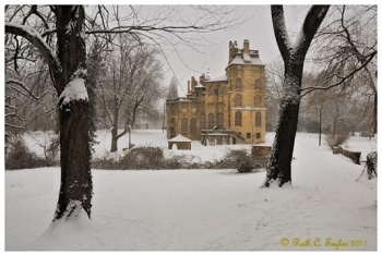 Winter Path to Fonthill Castle - Doylestown, PA