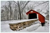 Winter Along Van Sant Covered Bridge - Washington Crossing, PA