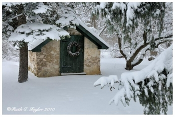Winter Springhouse  - Holiday Card