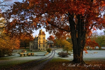 Frosty Autumn Morning at Fonthill - Note Card